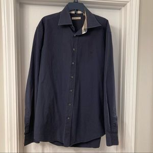 Burberry Brit Men's Button Down Oxford in Navy *